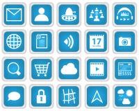 Mobiele het Pictogramreeks van de Webdiensten royalty-vrije stock afbeelding