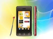 Mobiele het scherm van de aanraking stock illustratie