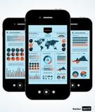 Mobiele infographic. Royalty-vrije Stock Afbeeldingen