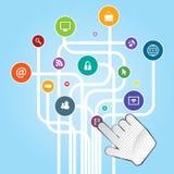 Mobiele Internet-mededelingen royalty-vrije illustratie