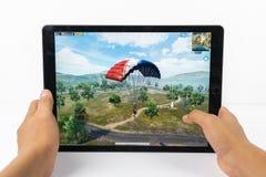 Mobiele iPadiphone van speler Onbekende Slagvelden PUBG royalty-vrije stock foto's