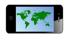 Mobiele kaart Royalty-vrije Stock Foto's