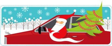 Mobiele kerstman Royalty-vrije Stock Afbeelding