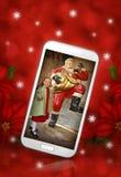 Mobiele Kerstmis Stock Foto's