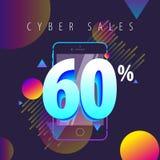 Mobiele kleuren volledige aanbiedingen, verkoop en kortingen royalty-vrije illustratie
