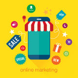 Mobiele Marketing Stock Foto