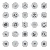 Mobiele media en communicatie pictogrammen vectorillustratie Stock Fotografie