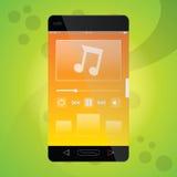 Mobiele Muziek app Stock Afbeeldingen