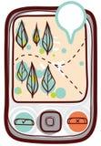 Mobiele navigator Stock Afbeelding