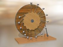 Mobiele Perpetuum Eeuwige de motiemachine van Leonardo da Vinci ` s vector illustratie