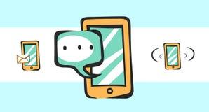 Mobiele pictogrammen voor app en Web Vectorpop-arttekens Royalty-vrije Stock Afbeelding