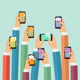 Mobiele praatjeaffiche Stock Fotografie
