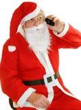 Mobiele Santas Stock Foto's