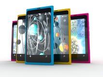 Mobiele smartphone Royalty-vrije Stock Foto's