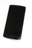 Mobiele smartphone met het gebroken scherm Royalty-vrije Stock Foto's