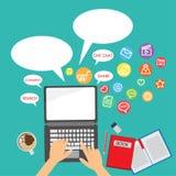 Mobiele Sociale Media Stock Fotografie
