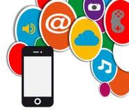 Mobiele sociale netwerkcirkel Royalty-vrije Stock Afbeelding