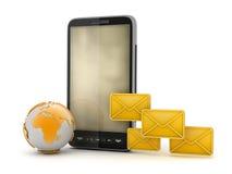 Mobiele technologie - Dienst voor korte berichten (SMS) Stock Foto