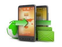 Mobiele technologie - e-mail op celtelefoon Royalty-vrije Stock Foto's