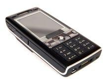 Mobiele telefoon die op wit wordt geïsoleerd royalty-vrije stock foto's