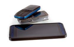 Mobiele telefoon drie Royalty-vrije Stock Foto