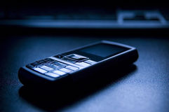 Mobiele telefoon en het Toetsenbord van PC stock foto's
