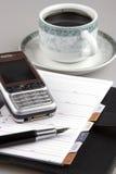 Mobiele Telefoon en Organisator Royalty-vrije Stock Afbeelding