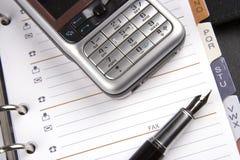 Mobiele Telefoon en Organisator stock afbeelding