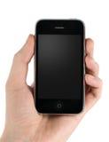 Mobiele telefoon in mensenhand Royalty-vrije Stock Afbeeldingen