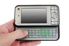 Mobiele telefoon met het lege scherm Royalty-vrije Stock Afbeeldingen