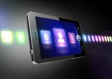 Mobiele telefoon met pictogrammen Royalty-vrije Stock Fotografie