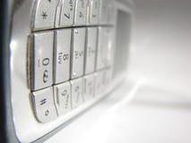 Mobiele telefoon in mist Stock Foto's