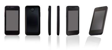 Mobiele telefoon op witte achtergrond Stock Afbeelding