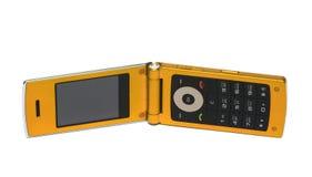 Mobiele telefoon over wit stock foto