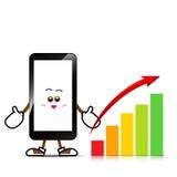 Mobiele telefoon, Slim telefoonbeeldverhaal Stock Foto's