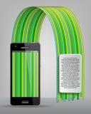 Mobiele telefoon van moderne infographics Royalty-vrije Stock Foto