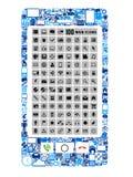 Mobiele telefoon van pictogrammen Royalty-vrije Stock Afbeeldingen