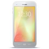 Mobiele telefoon vectorillustratie Stock Foto