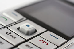 Mobiele telefoonclose-up royalty-vrije stock afbeelding