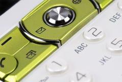 Mobiele telefoonclose-up Stock Foto's