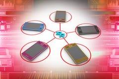 Mobiele telefoonconnectiviteit Royalty-vrije Stock Foto