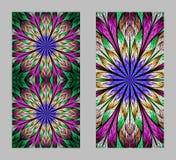 Mobiele telefoondekking terug met mooi Patroon in fractal ontwerp vector illustratie