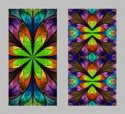 Mobiele telefoondekking terug met mooi Patroon in fractal ontwerp Royalty-vrije Stock Foto