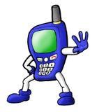Mobiele telefoonkarakter Stock Foto