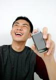Mobiele telefoonkerel stock foto's