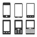 Mobiele telefoonpictogrammen Stock Afbeelding