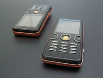 Mobiele telefoons stock afbeelding