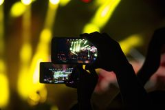 Mobiele telefoons royalty-vrije stock afbeelding