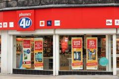 Mobiele telefoons in het UK stock foto's