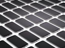 Mobiele telefoons, smartphones Stock Afbeelding